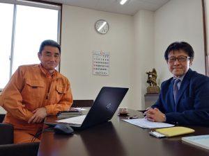 ダイヤ冷ケース・太田社長様と松川